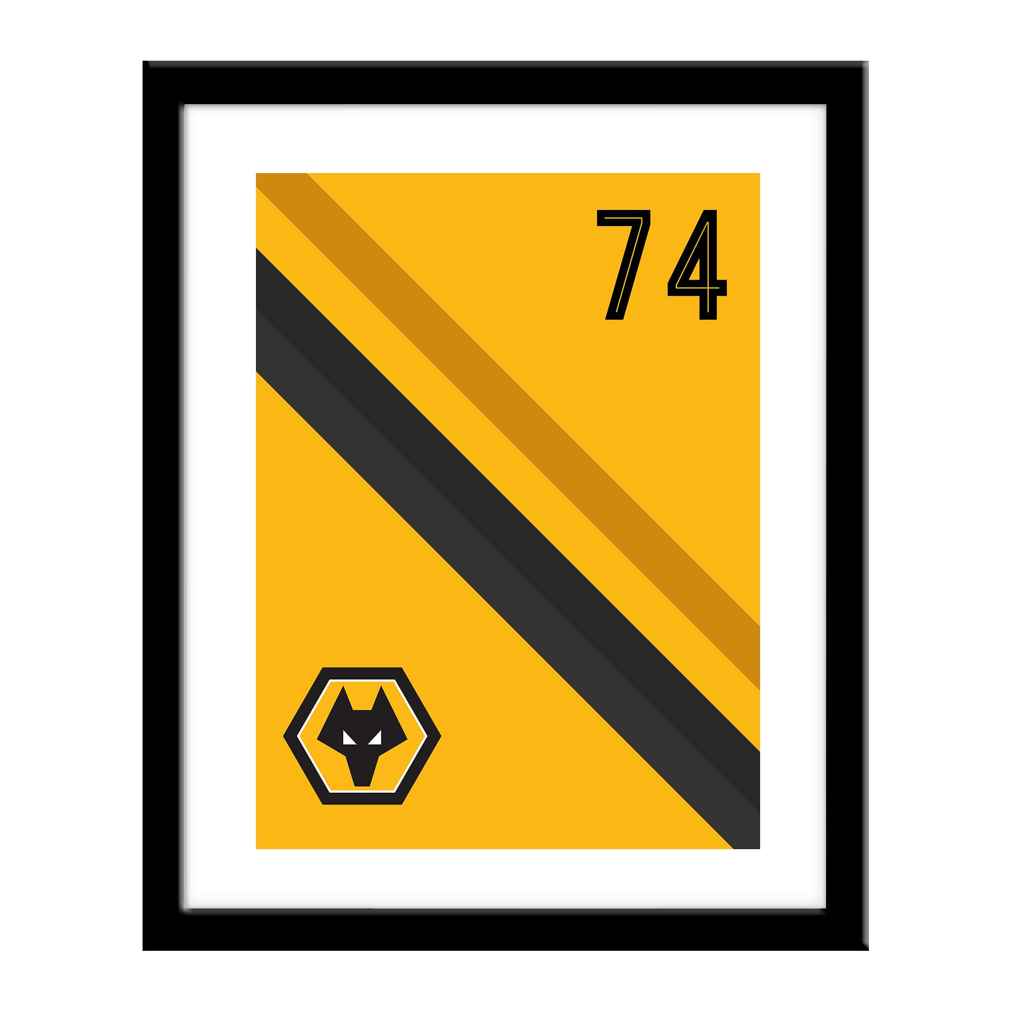 Wolverhampton Wanderers FC Stripe Print