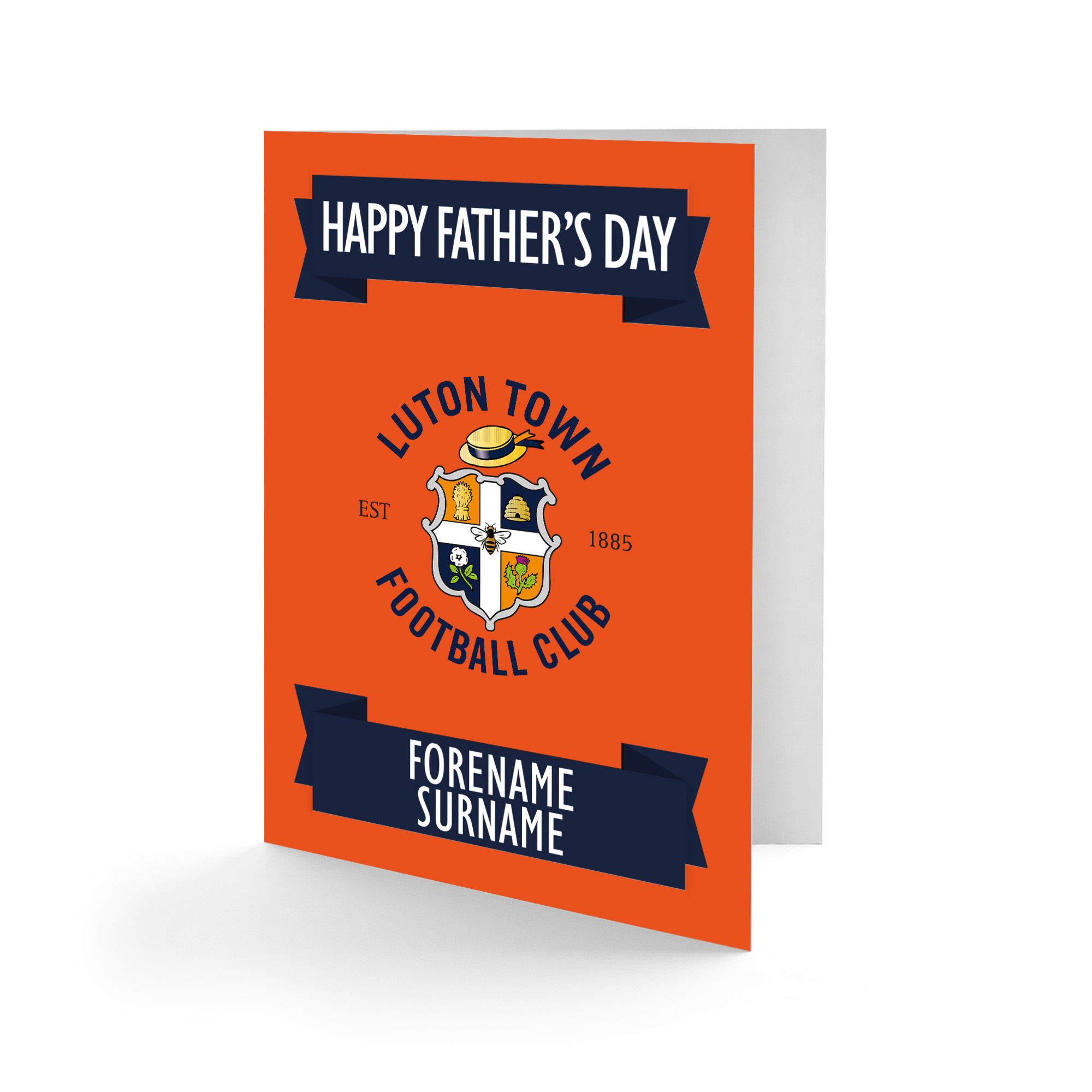 Luton Town FC Crest Father's Day Card