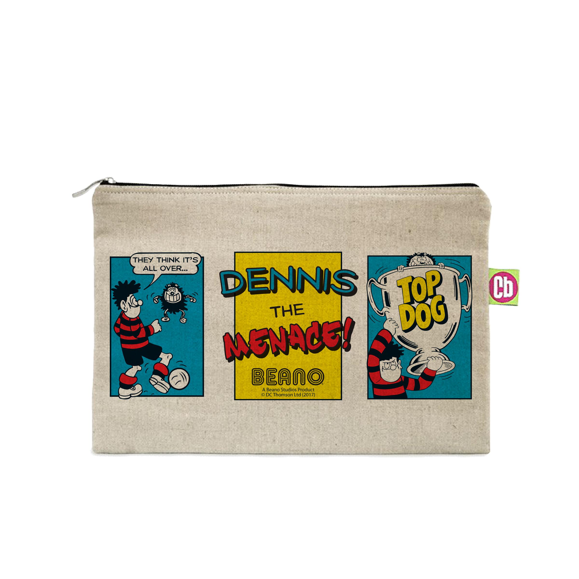 Beano Classic Comic Strip Top Dog Canvas Pencil Case