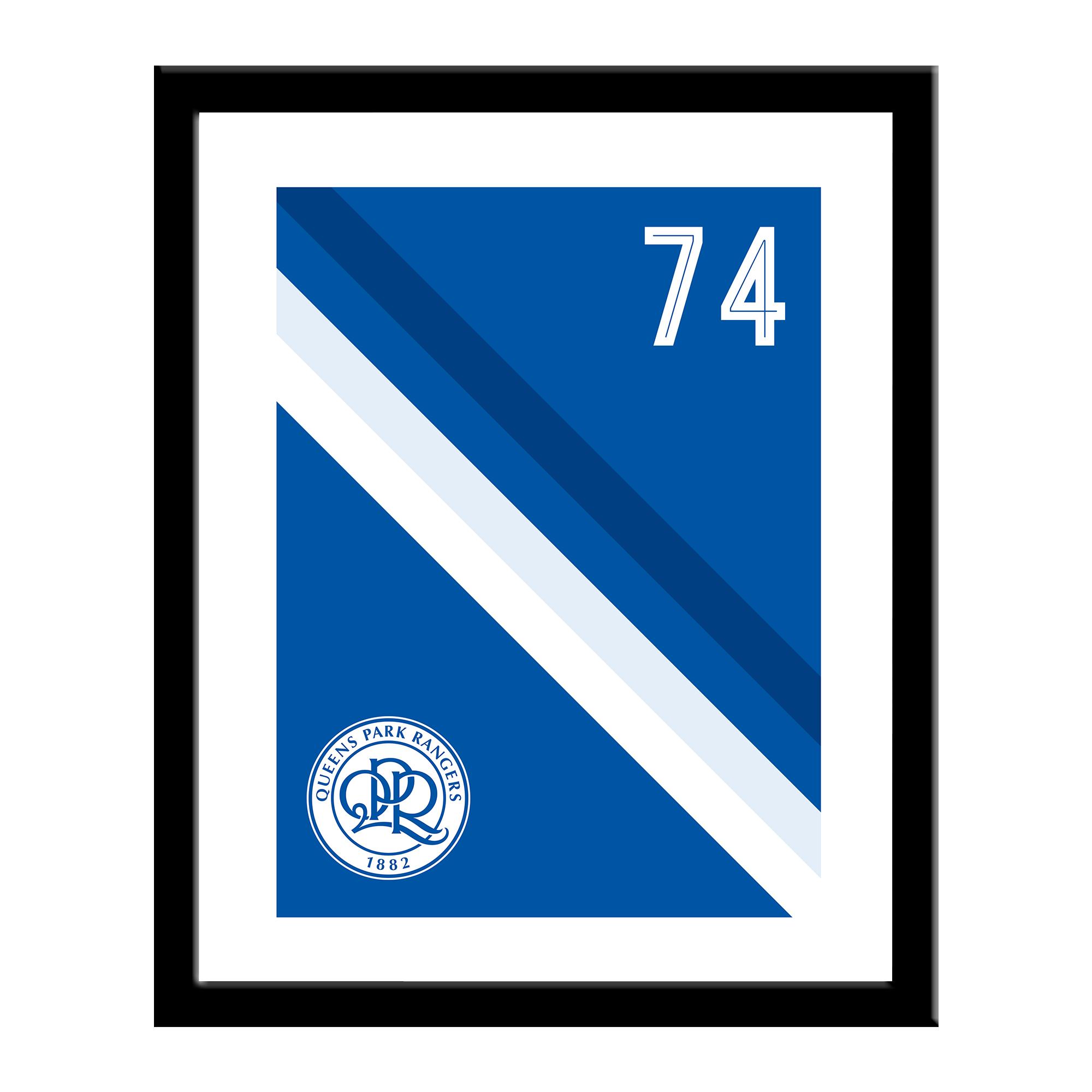 Queens Park Rangers FC Stripe Print