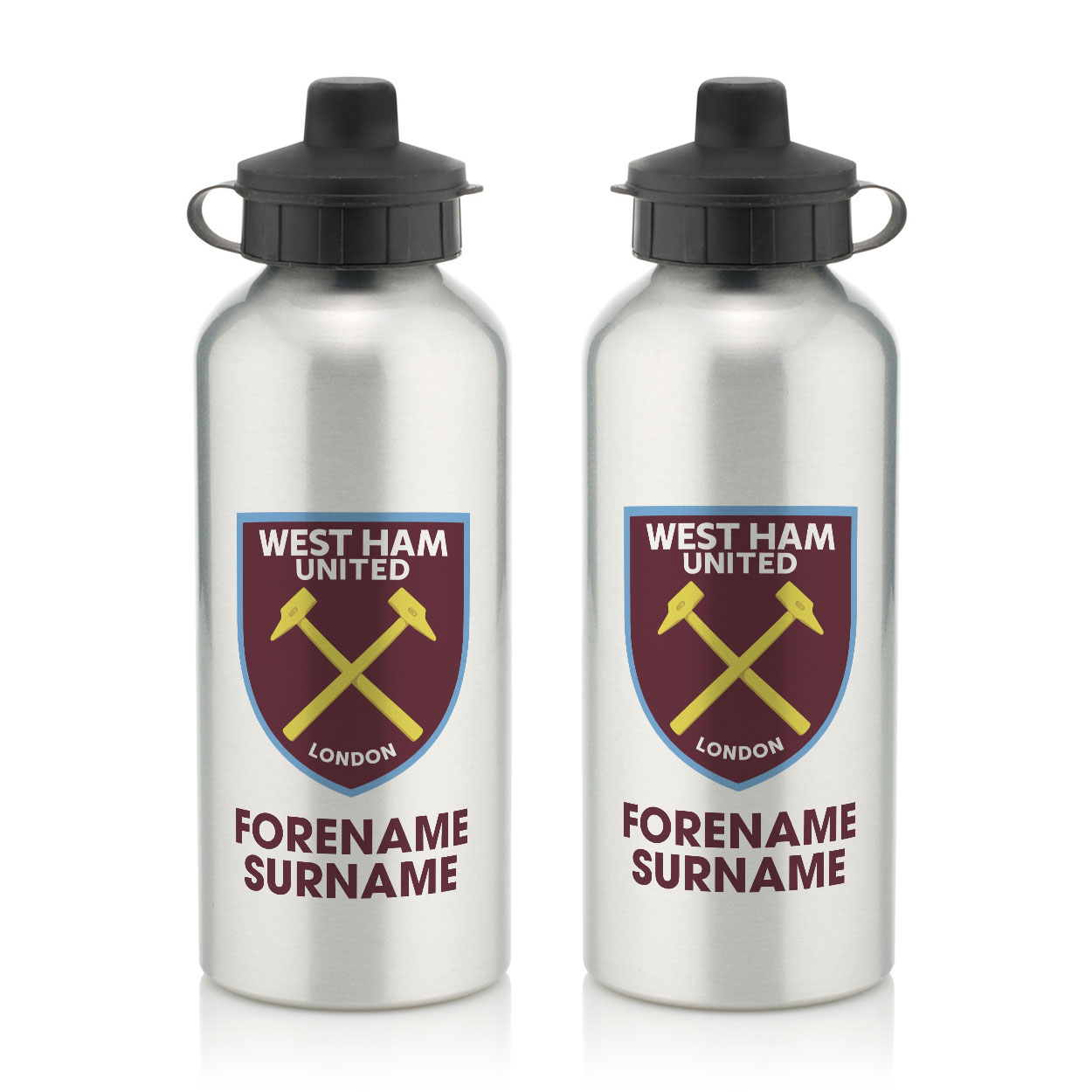 West Ham United FC Bold Crest Water Bottle