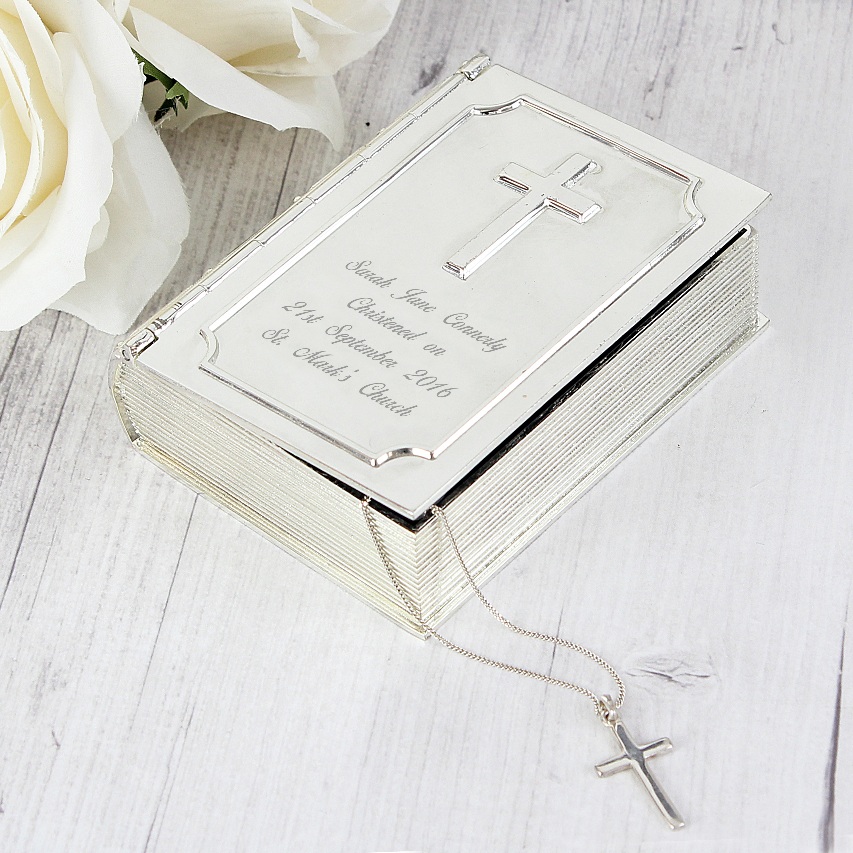 Engraved Bible Trinket Box