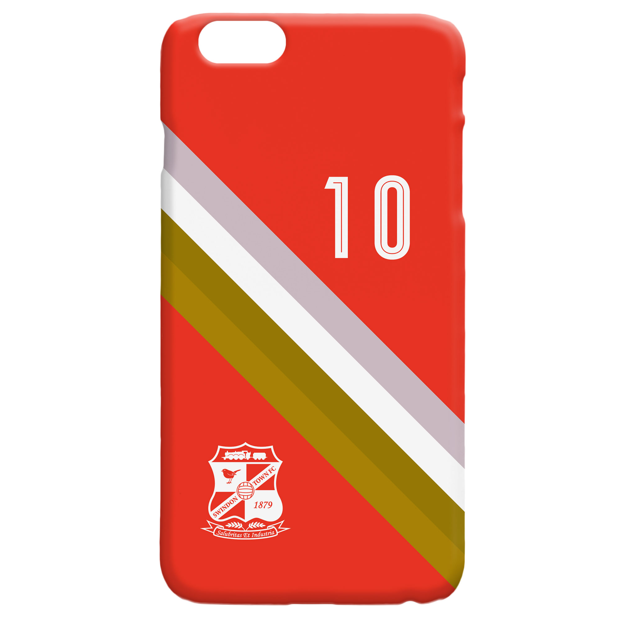 Swindon Town Stripe Hard Back Phone Case