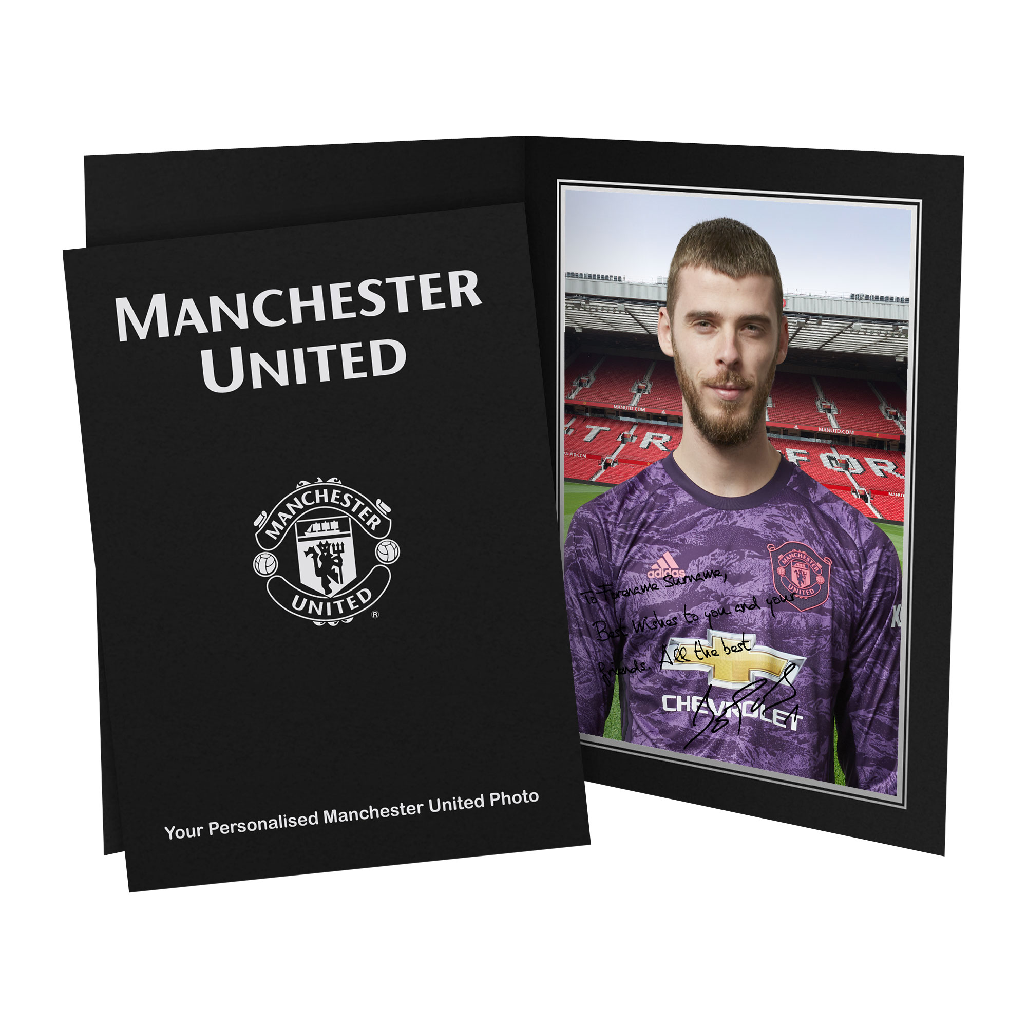 Manchester United FC De Gea Autograph Photo Folder