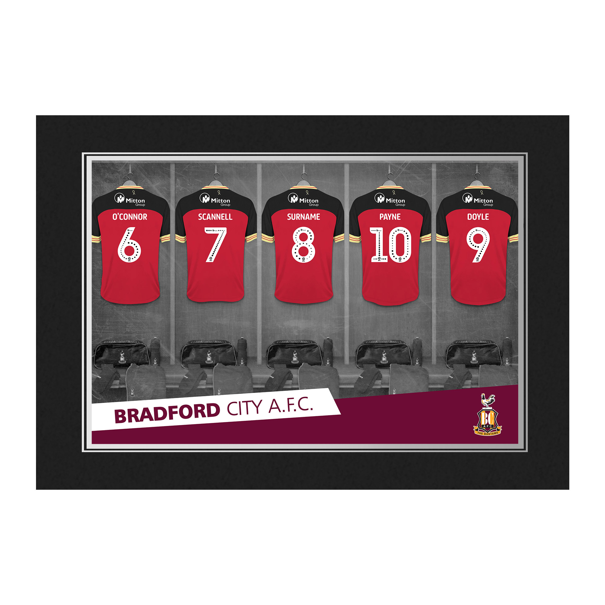Bradford City AFC 9x6 Dressing Room Photo Folder