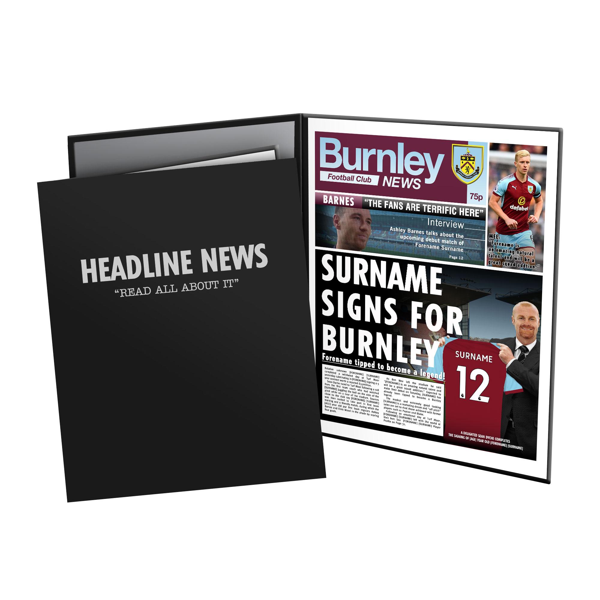 Burnley FC News Folder