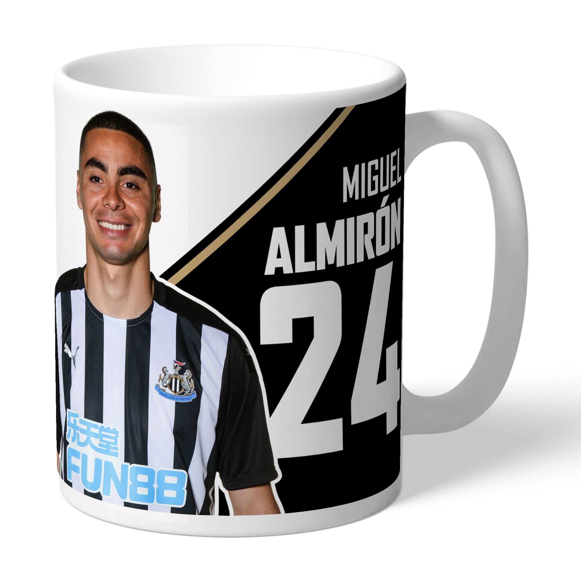Newcastle United FC Almiron Autograph Mug