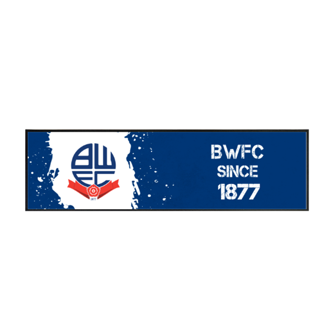 Bolton Wanderers FC Paint Splash Large Bar Runner