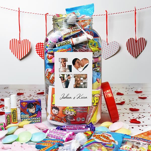 LOVE' Photo Gift - Retro Sweet Jar - Large