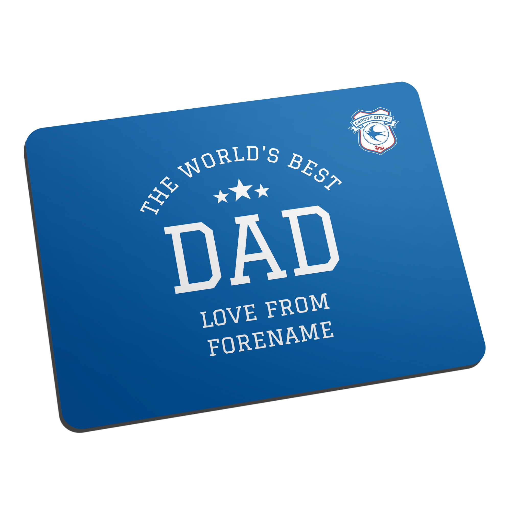 Cardiff City FC World's Best Dad Mouse Mat