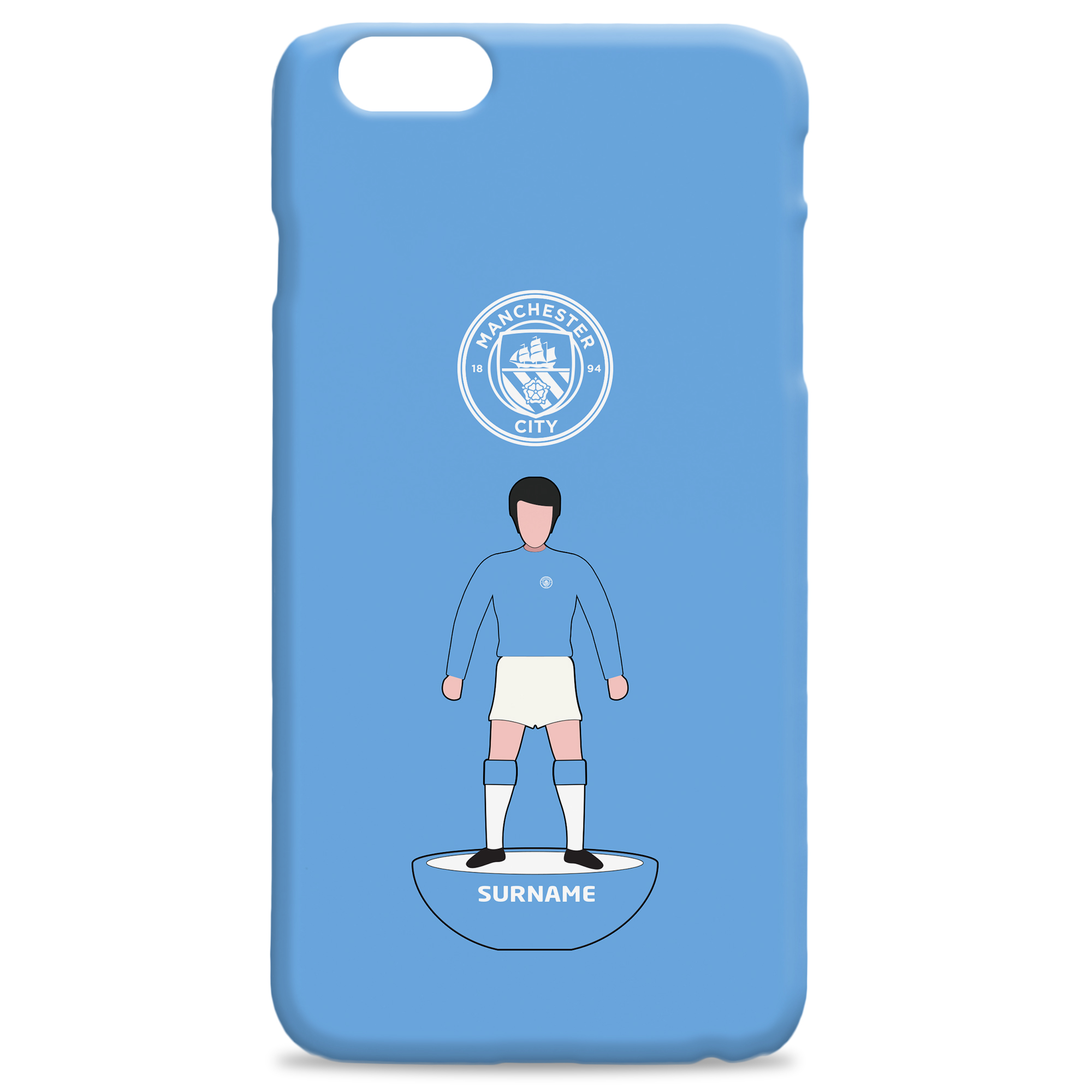 Manchester City FC Player Figure Hard Back Phone Case