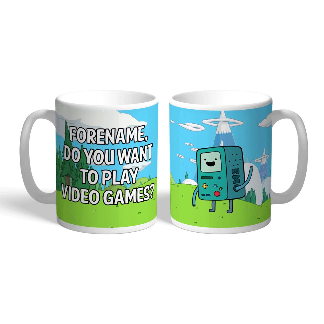 Adventure Time Video Games Mug