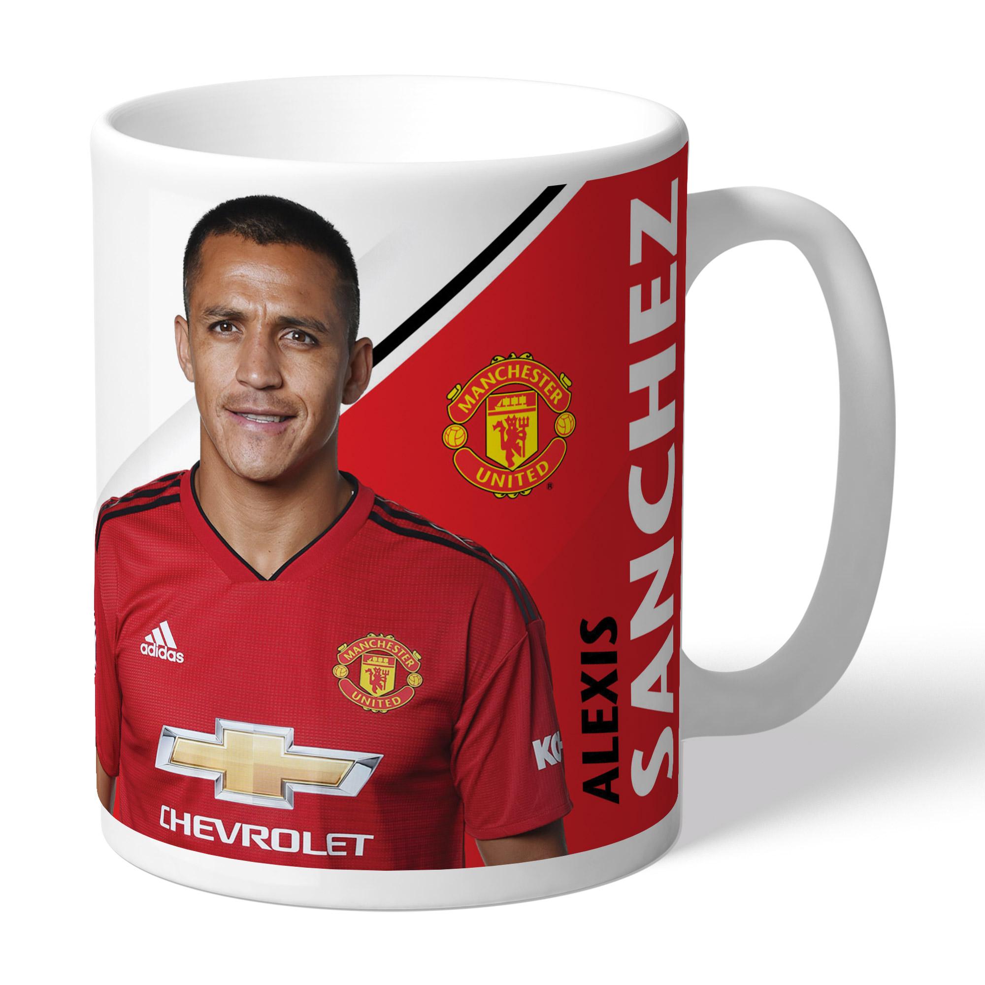 Manchester United FC Sanchez Autograph Mug