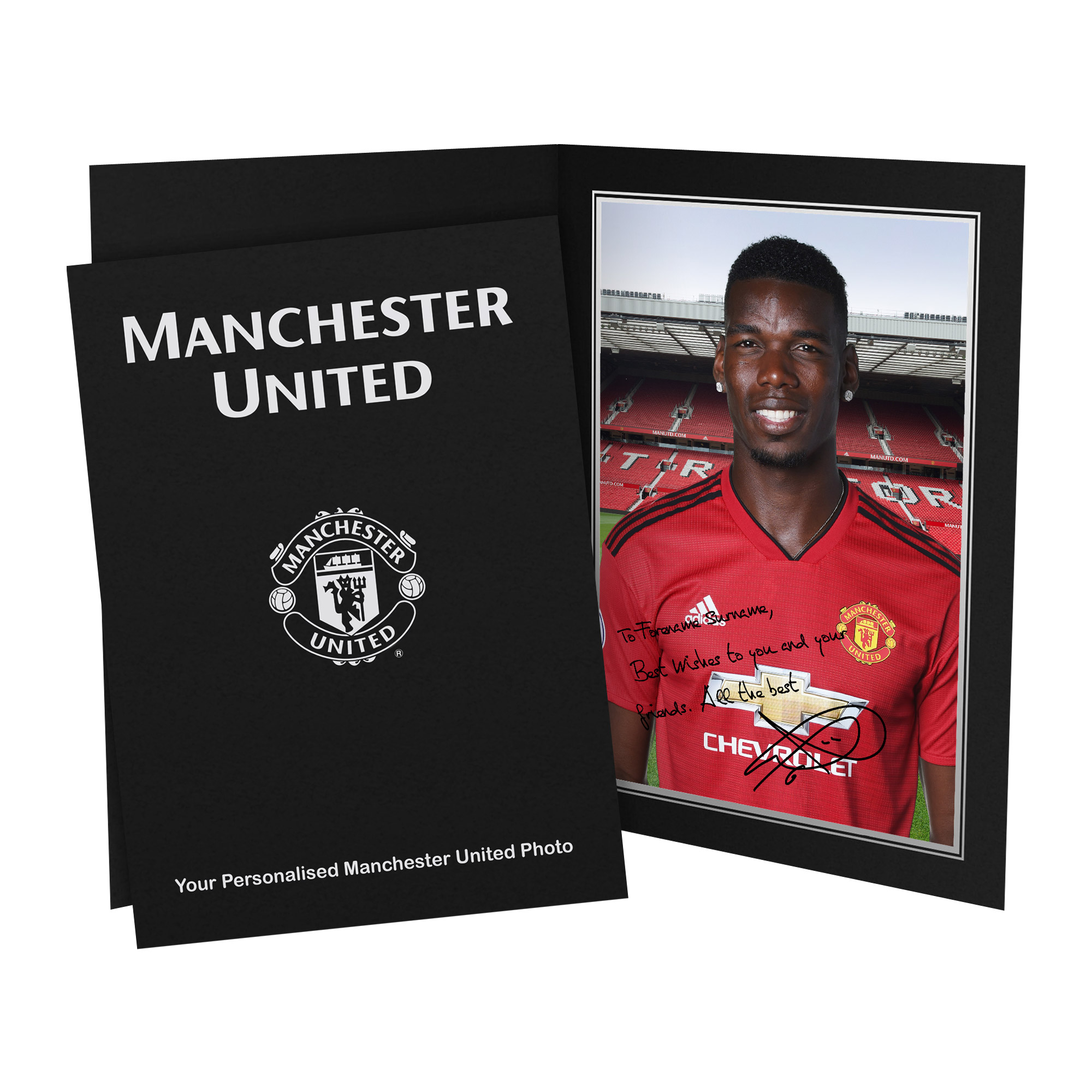 Manchester United FC Pogba Autograph Photo Folder