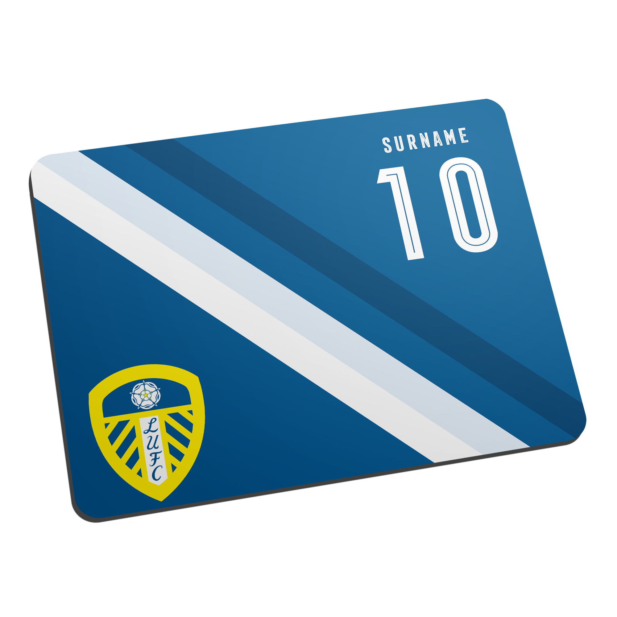 Leeds United FC Stripe Mouse Mat