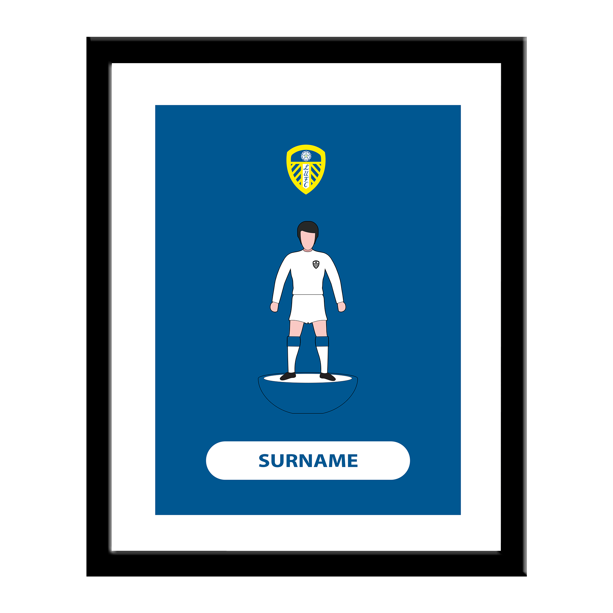 Leeds United FC Player Figure Print