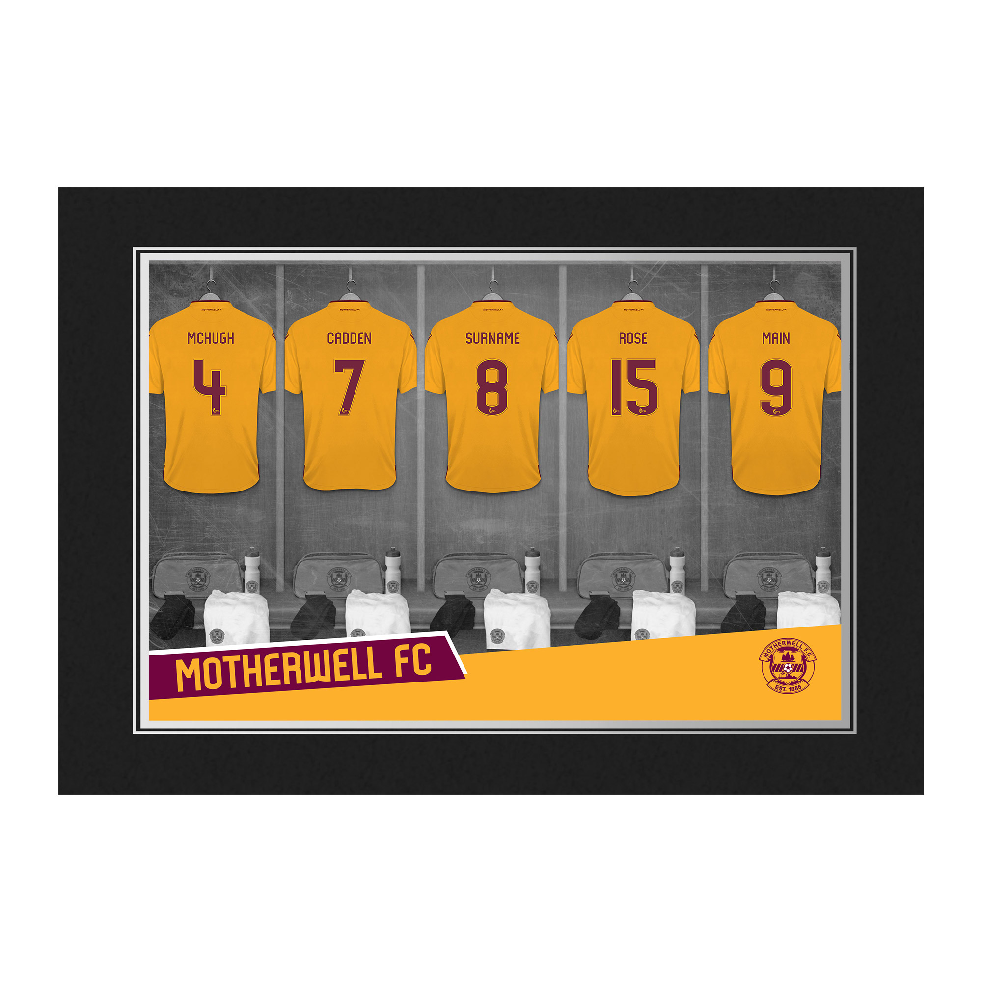 Motherwell FC 9x6 Dressing Room Photo Folder