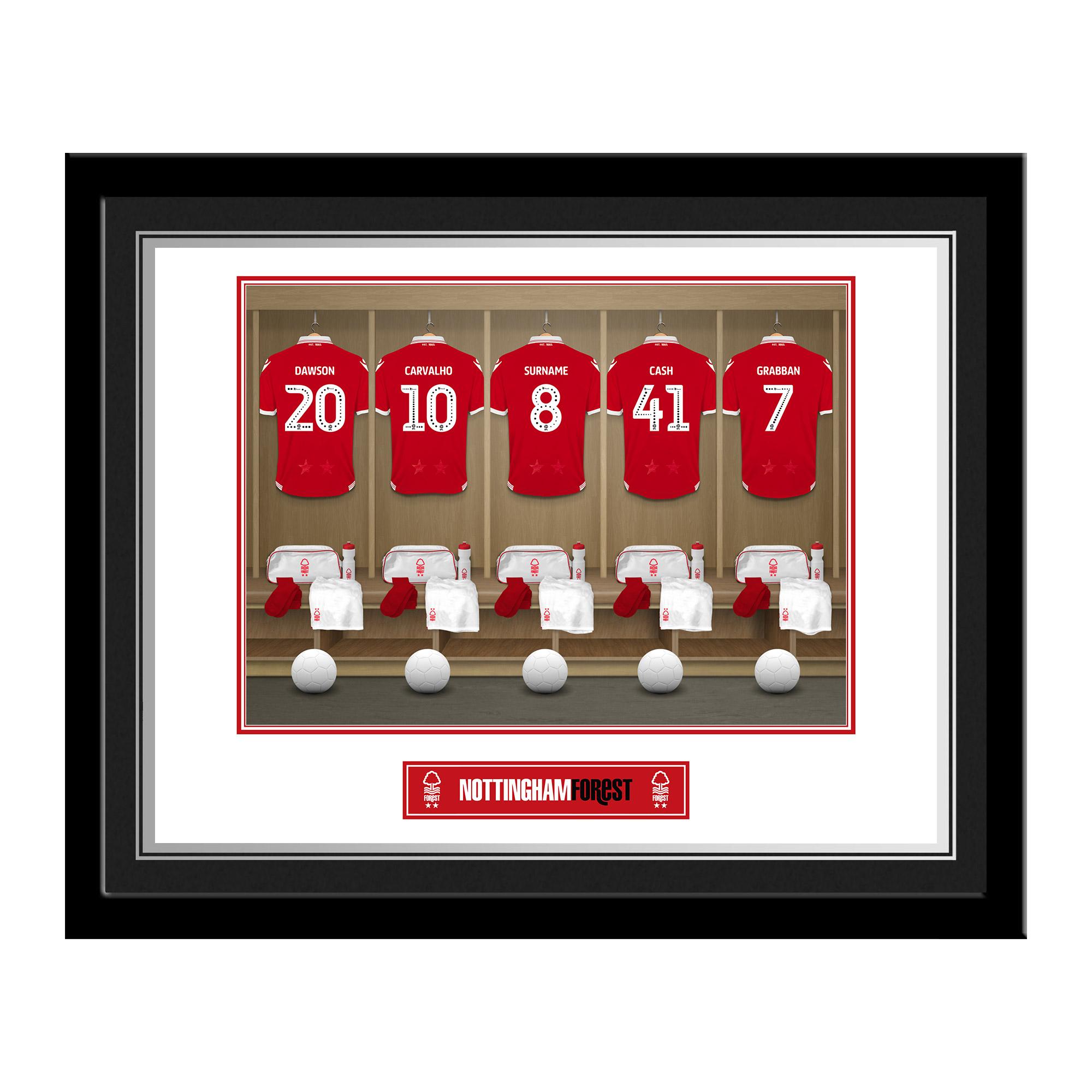 Nottingham Forest FC Dressing Room Photo Framed