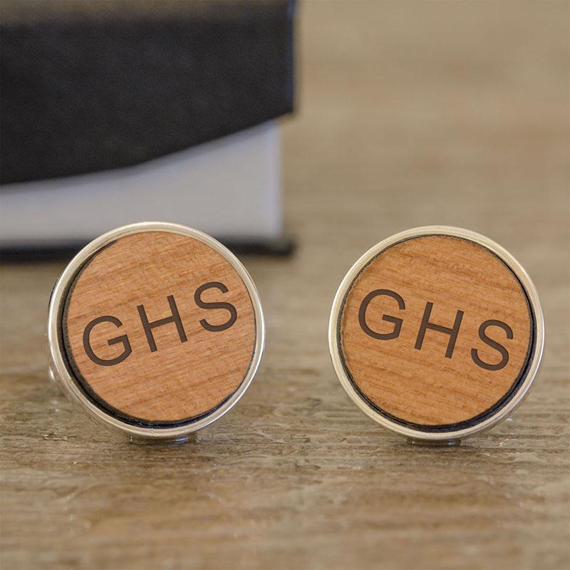 Initials Wooden Cufflinks