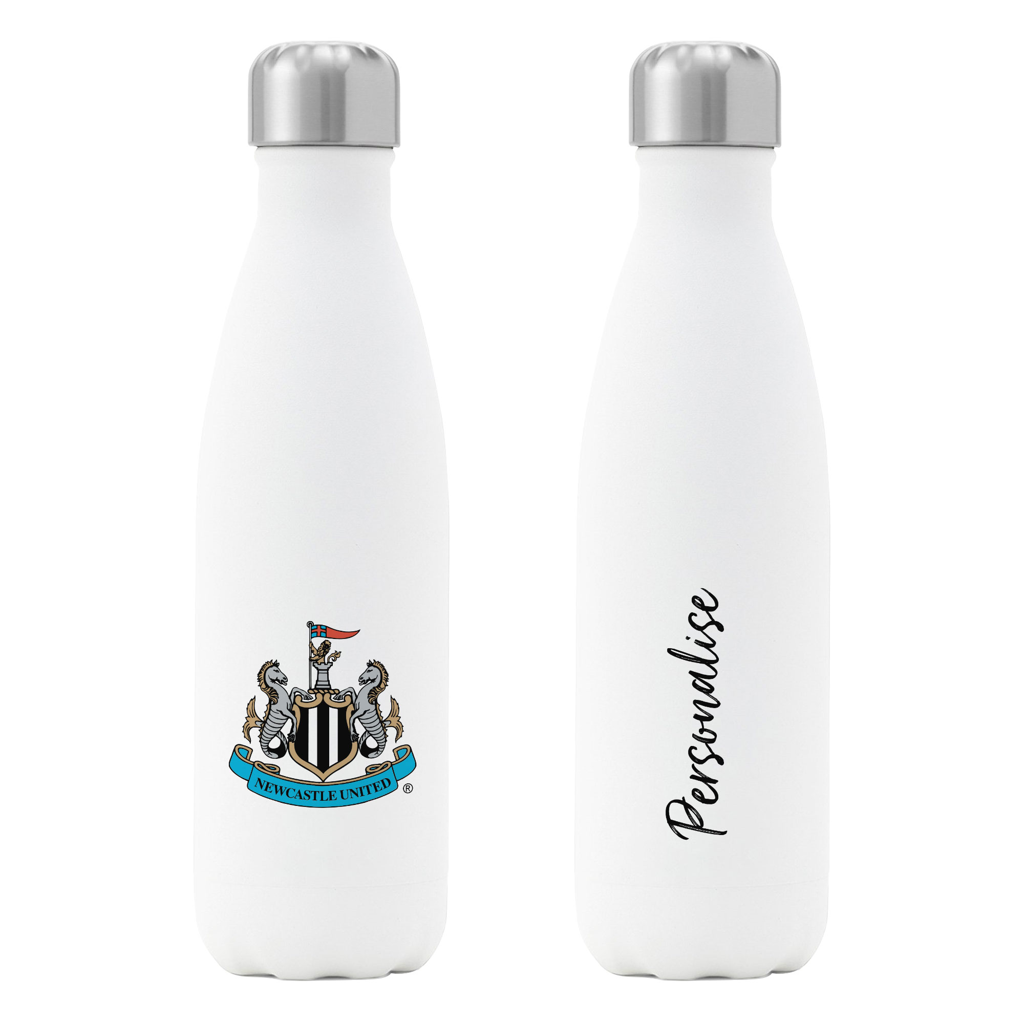 Newcastle United FC Crest Insulated Water Bottle - White