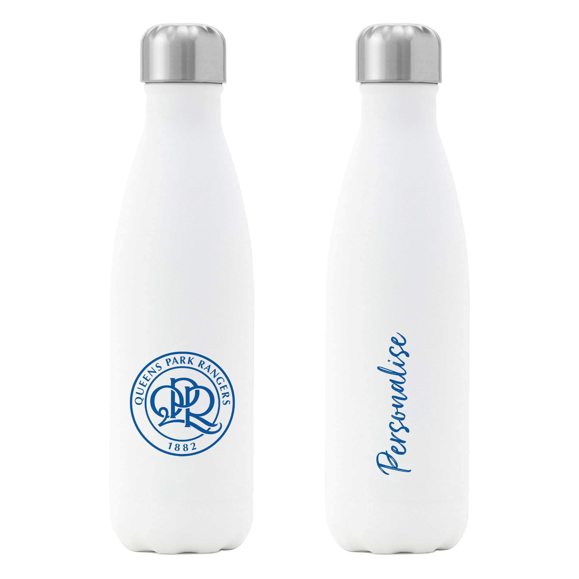 Queens Park Rangers FC Crest Insulated Water Bottle - White