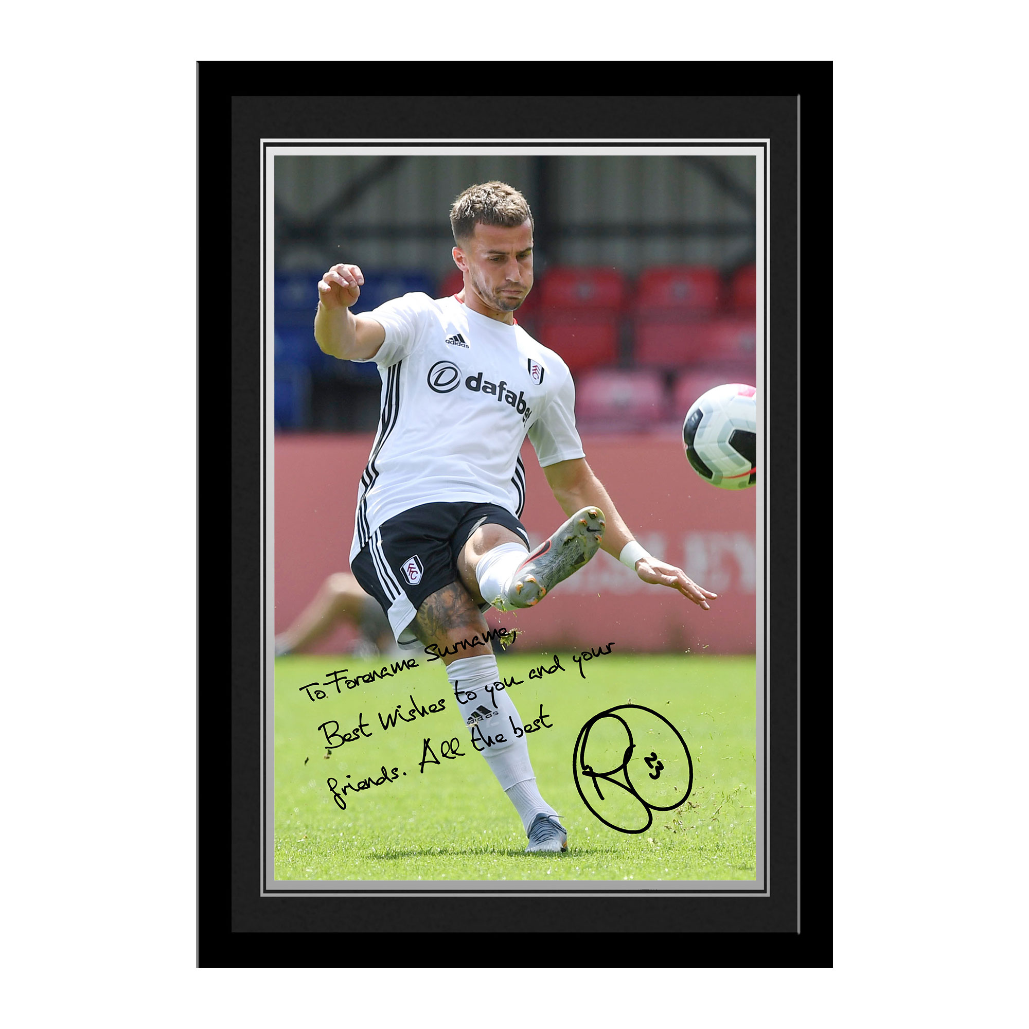 Fulham FC Bryan Autograph Photo Framed