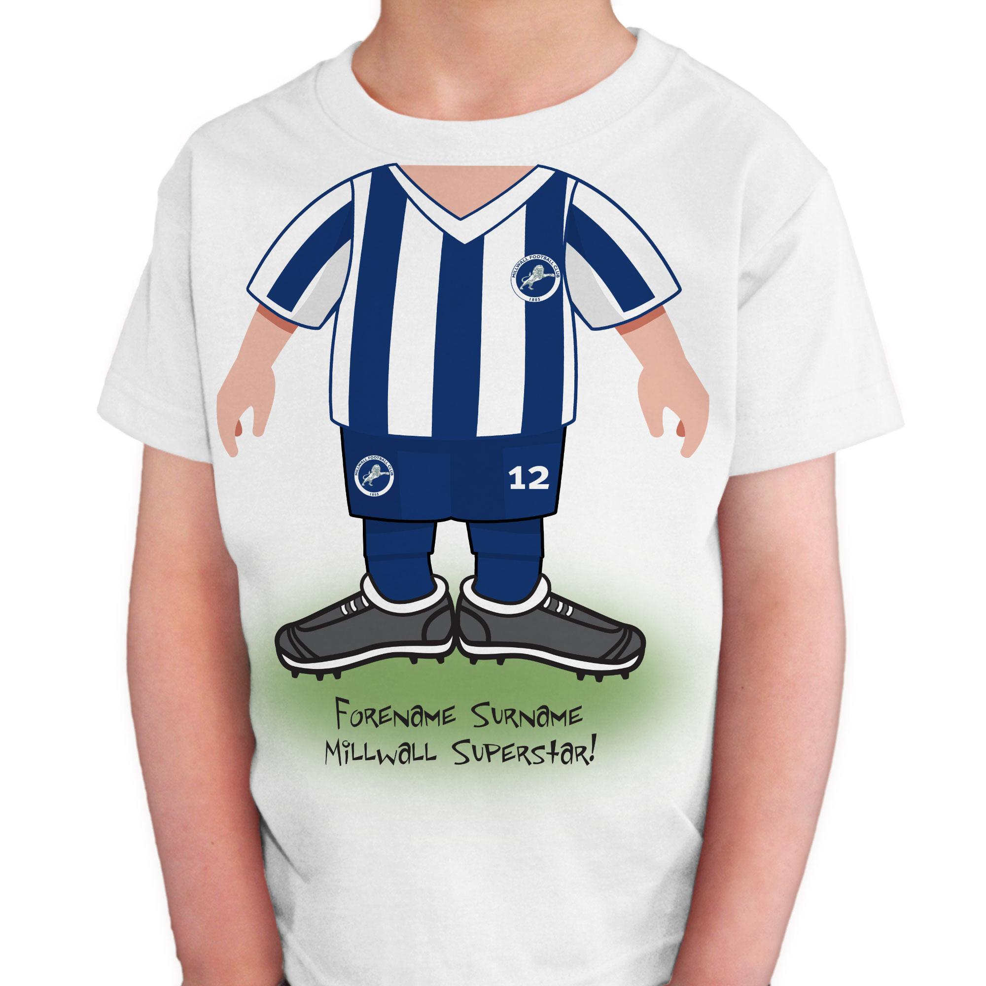 SPORTS Millwall F.C Personalised Mens T-Shirt