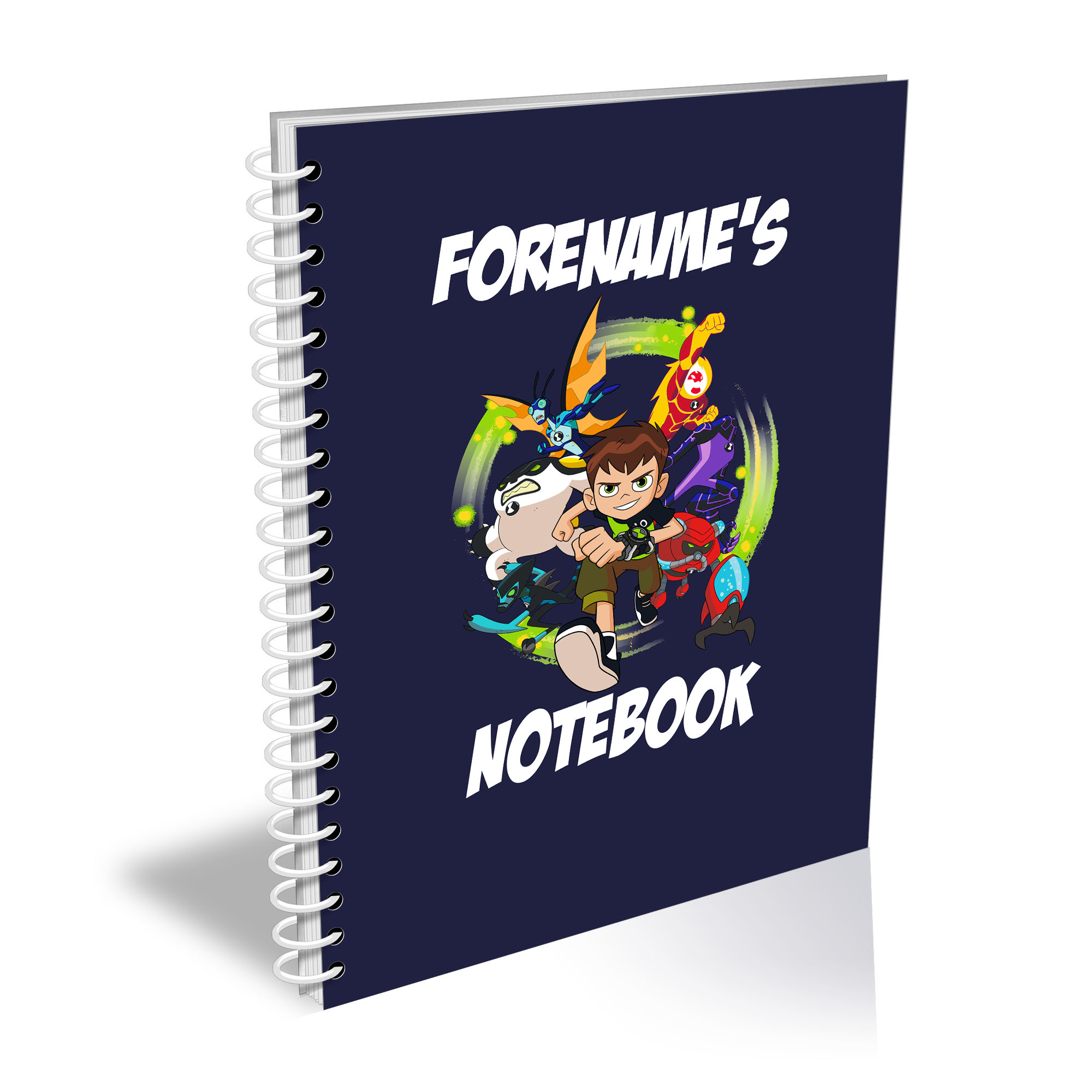 Ben 10 Names A4 Notebook
