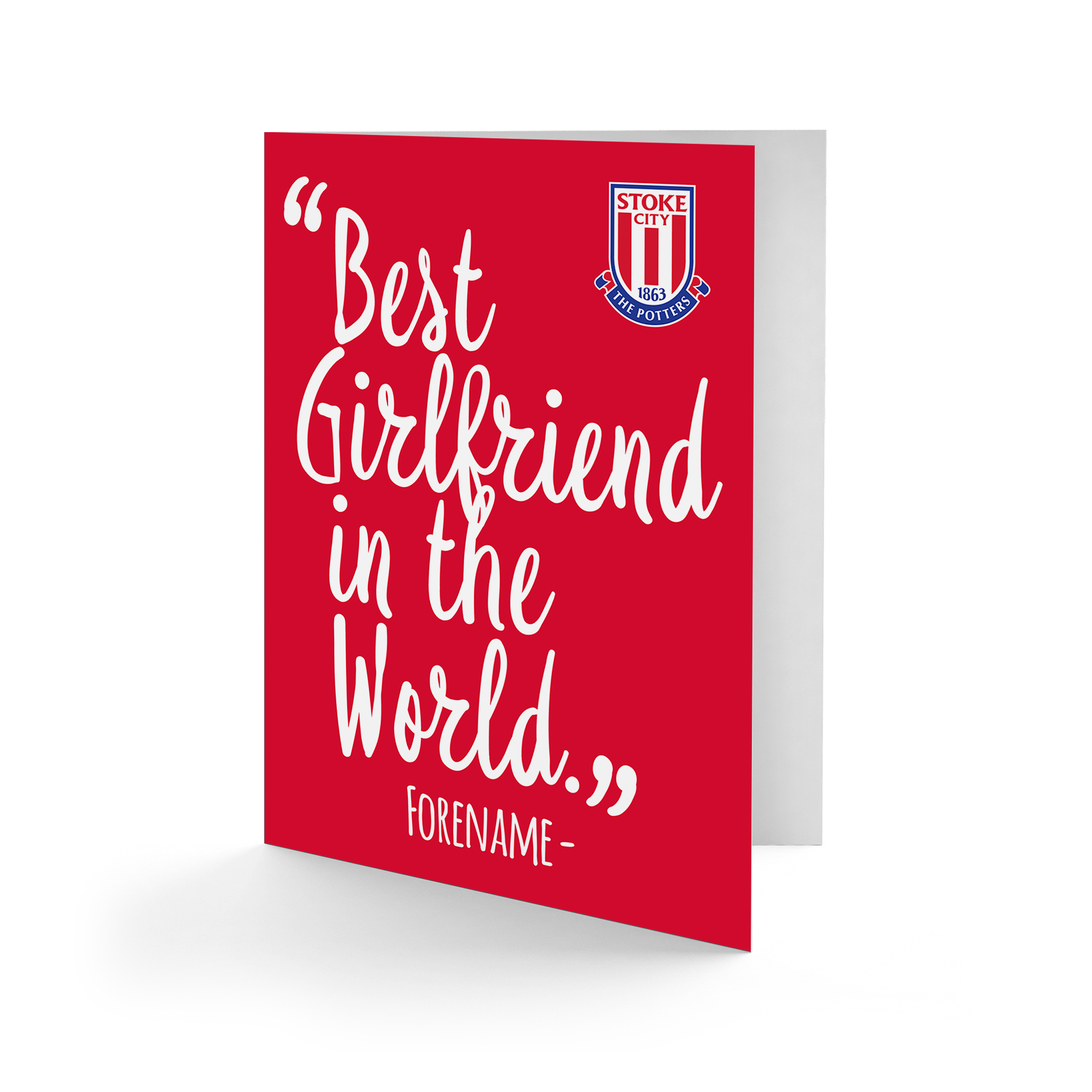 Stoke City FC Best Girfriend In The World Card