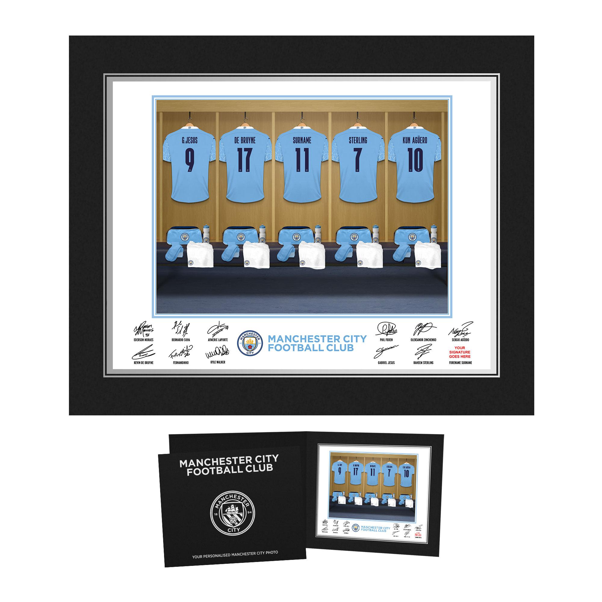 Manchester City FC Dressing Room Photo Folder