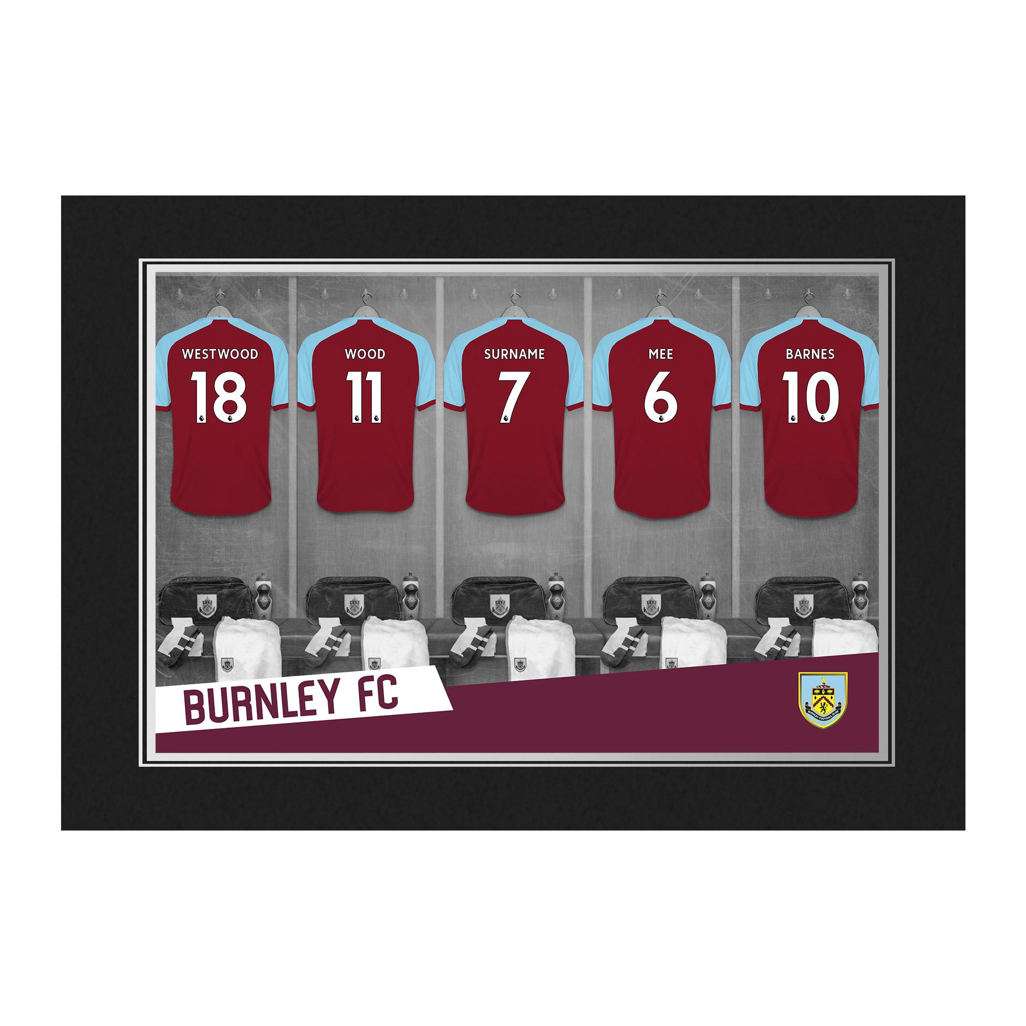 Burnley FC 9x6 Dressing Room Photo