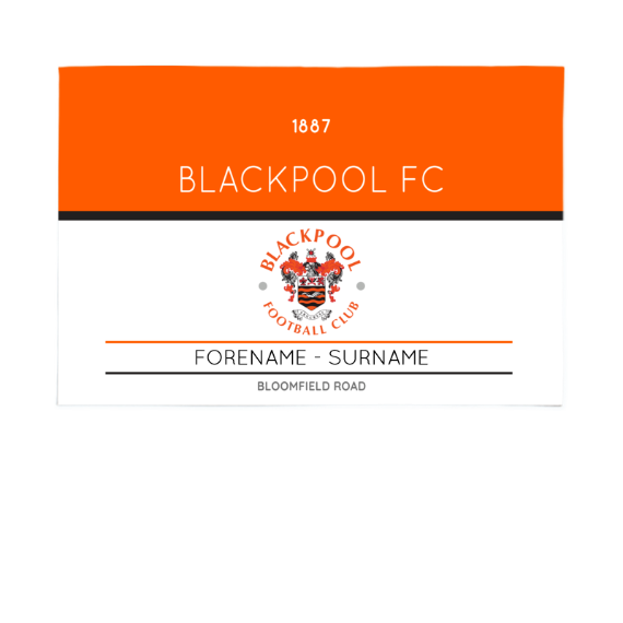 Blackpool Minimal Ticket 6ft x 4ft Banner