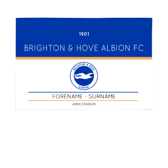 Brighton & Hove Albion FC Minimal Ticket 6ft x 4ft Banner