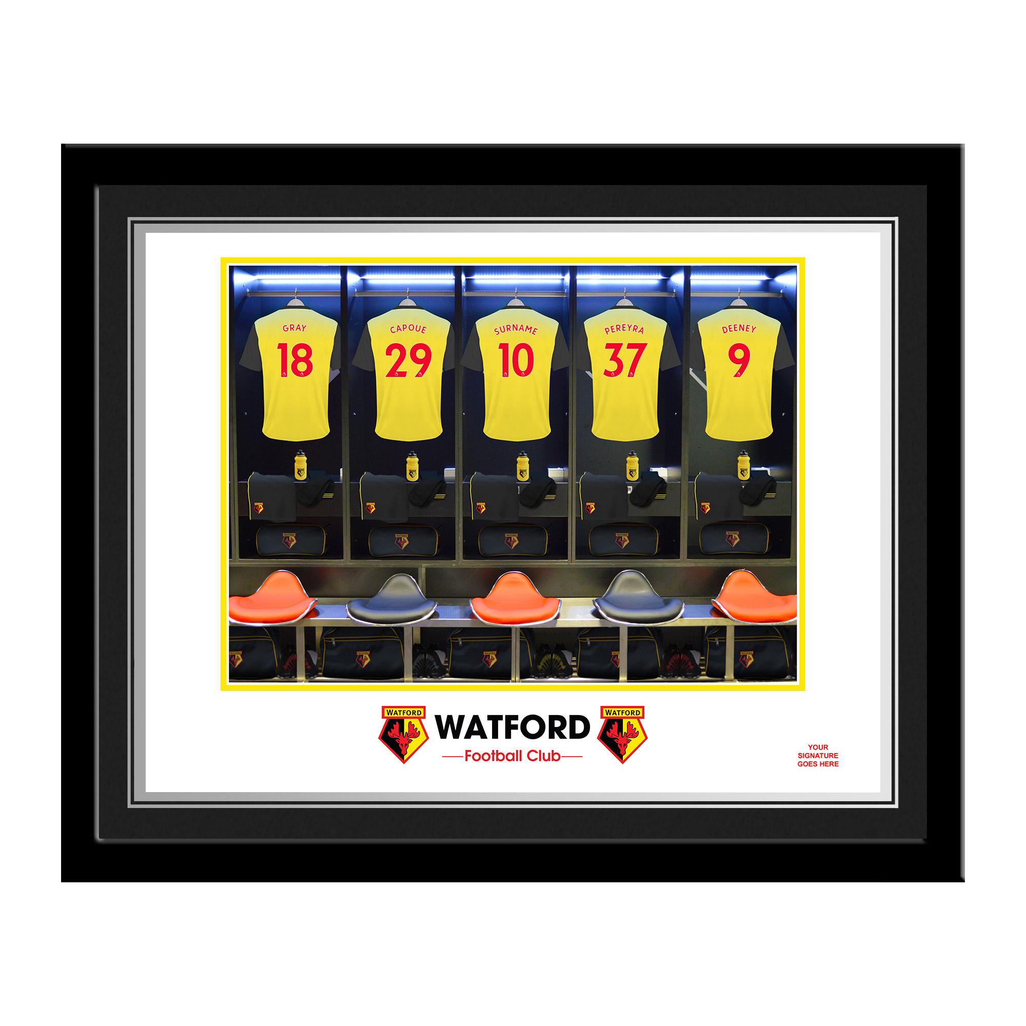 Watford FC Dressing Room Photo Framed
