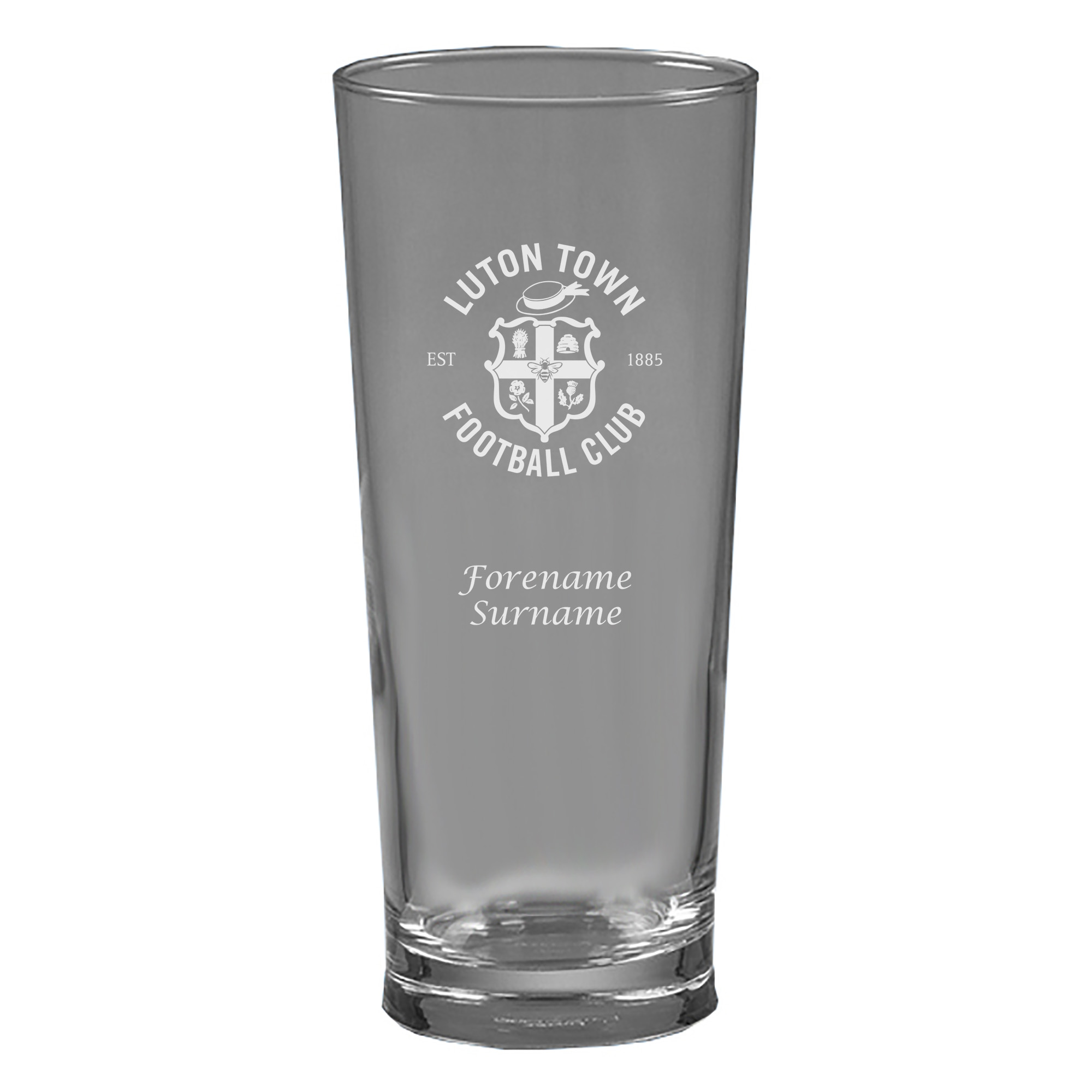 Luton Town FC Personalised Beer Glass