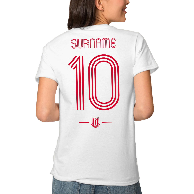 Stoke City FC Retro Shirt Ladies T-Shirt
