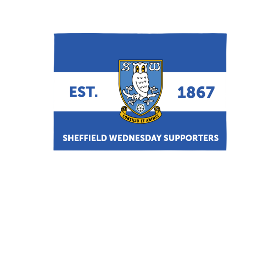 Sheffield Wednesday FC Supporters 3ft x 2ft Banner