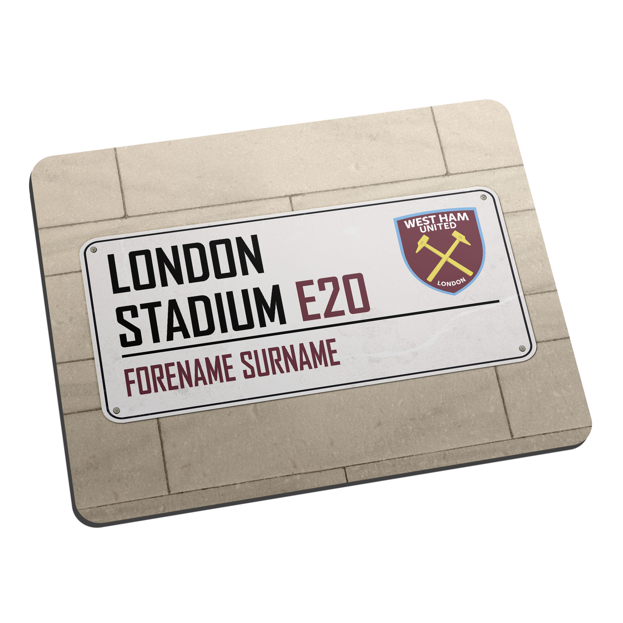 West Ham United FC Street Sign Mouse Mat