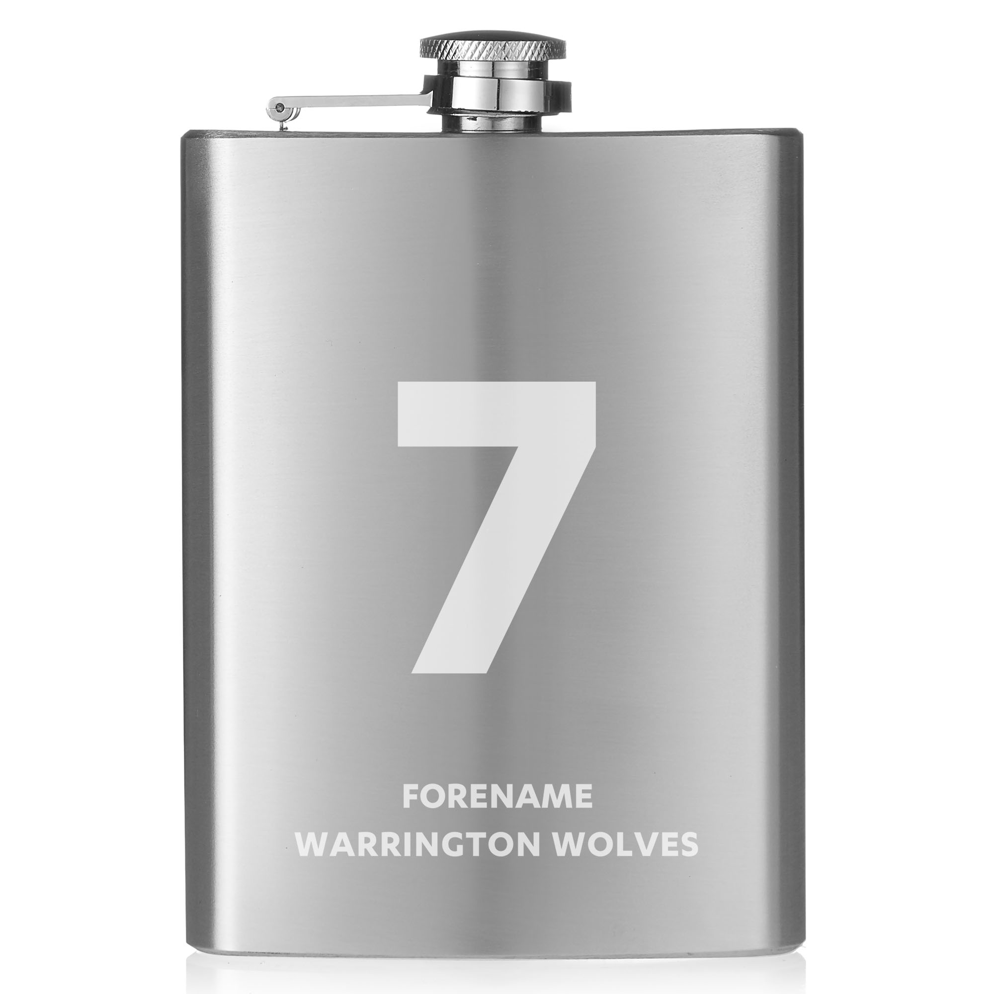 Warrington Wolves Shirt Hip Flask