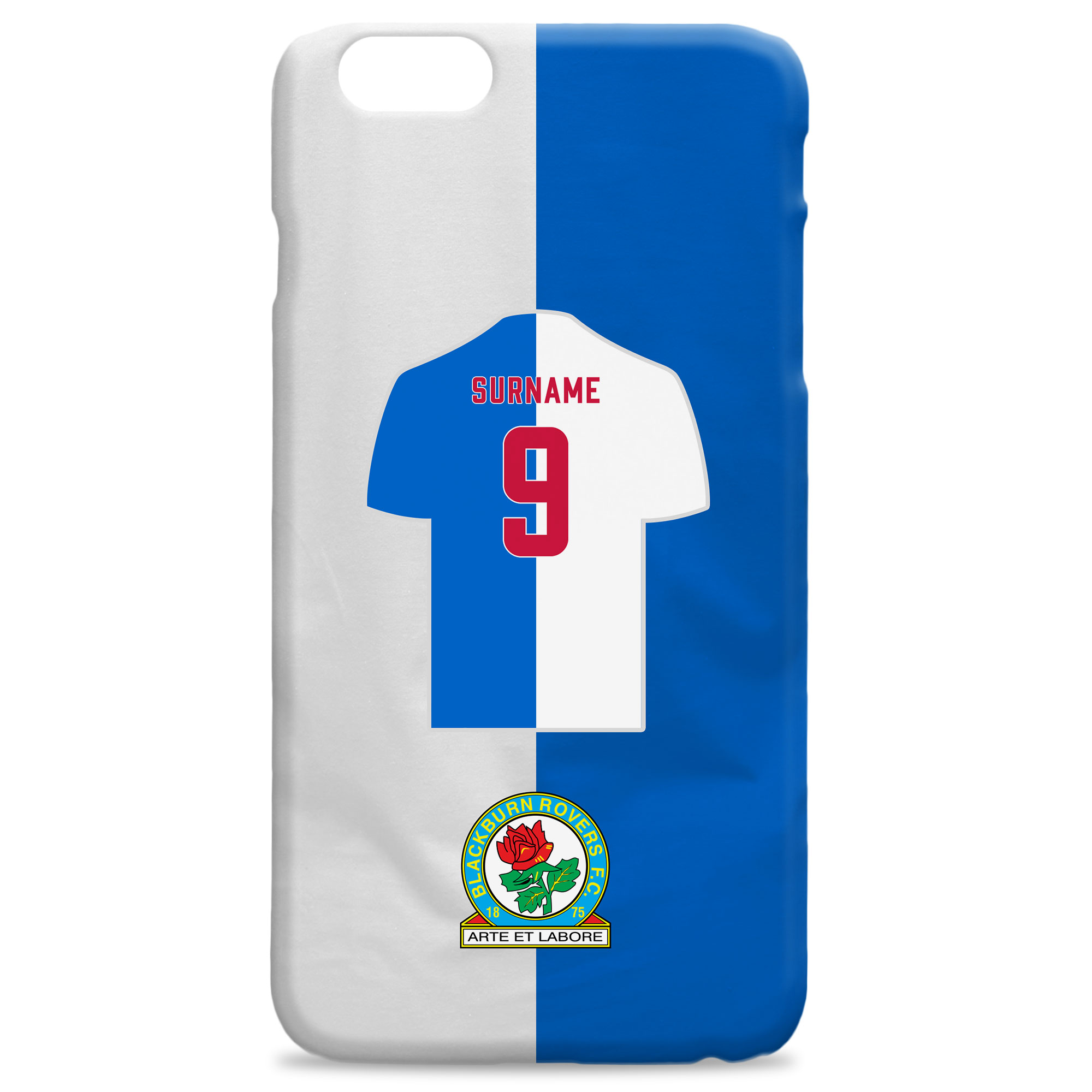 Blackburn Rovers FC Shirt Hard Back Phone Case