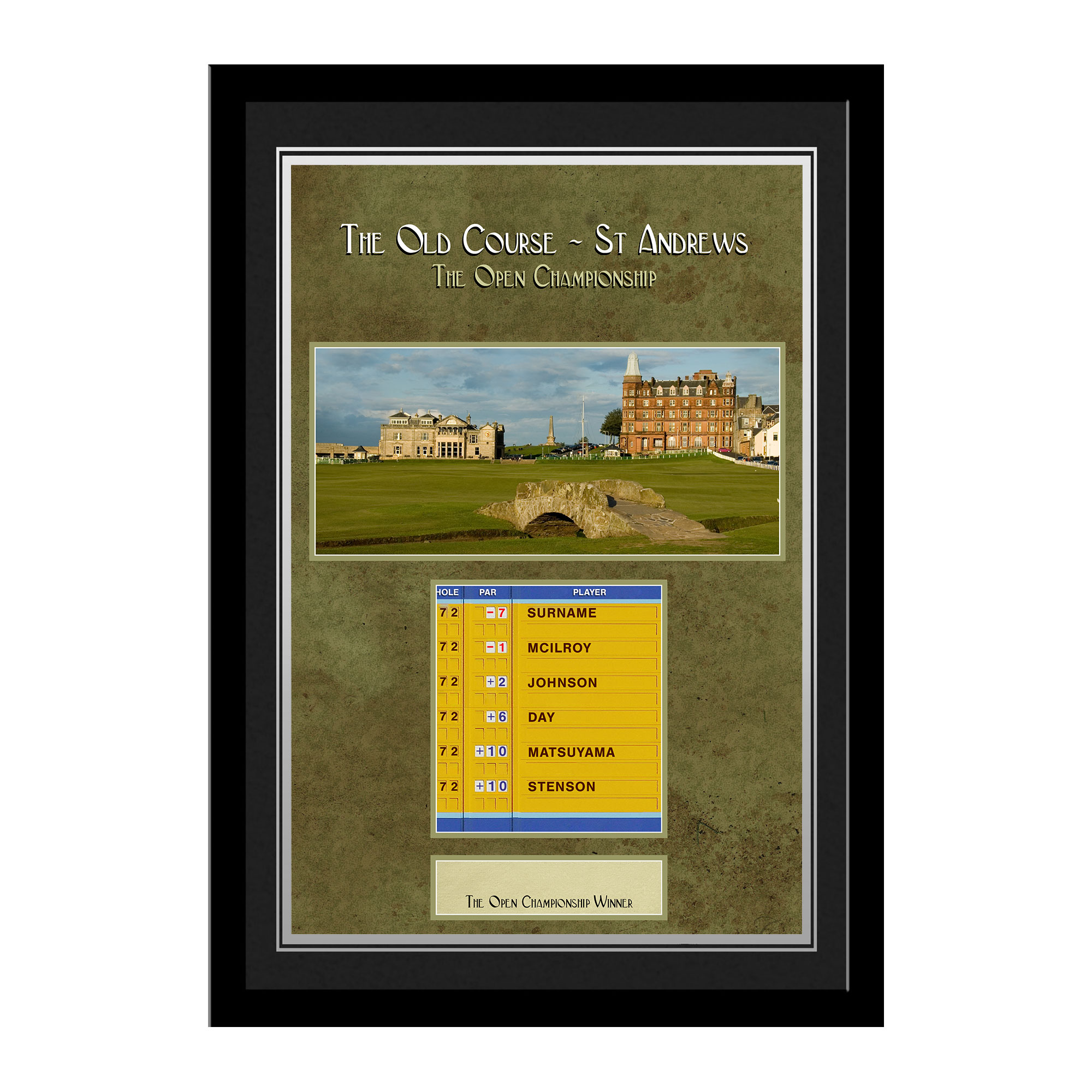 Personalised Open St Andrews Photo Frame