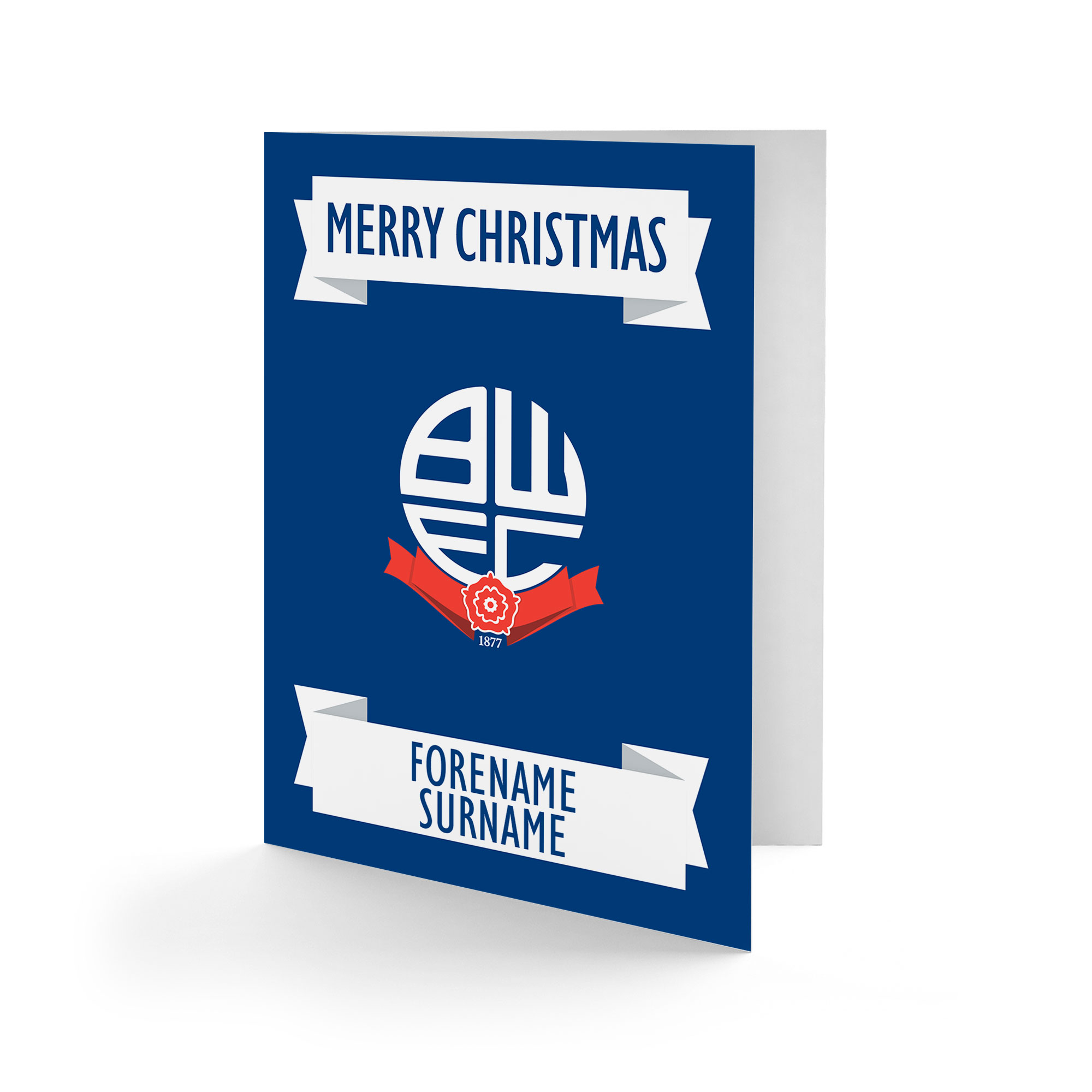 Bolton Wanderers FC Crest Christmas Card