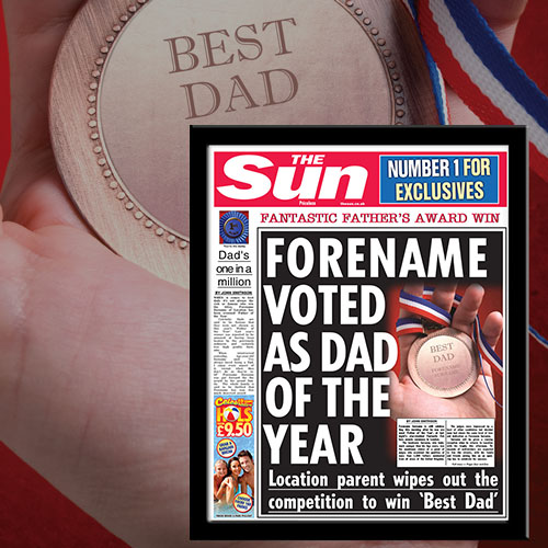 The Sun Best Dad News Single Page Print
