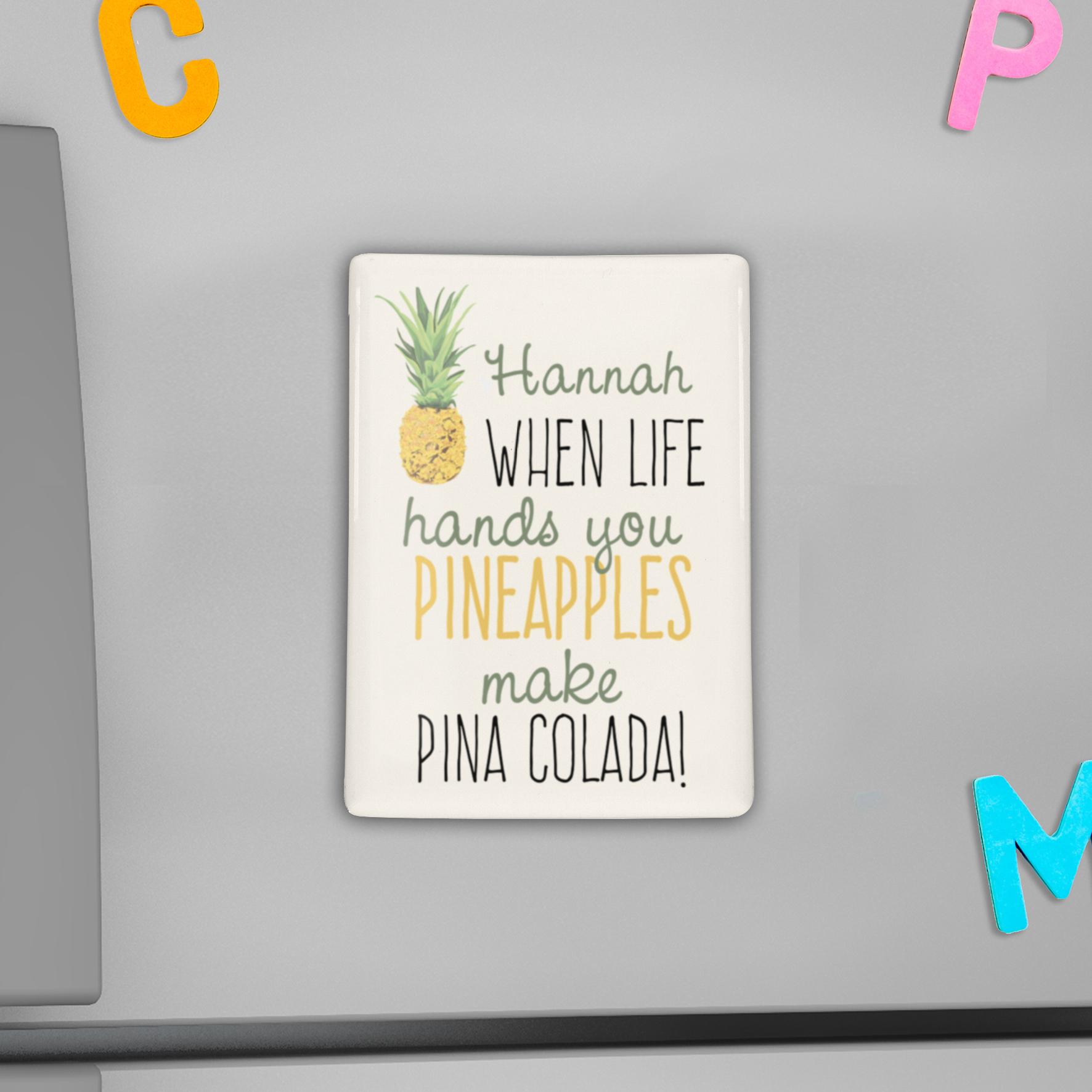 Personalised Pineapple Fridge Magnet