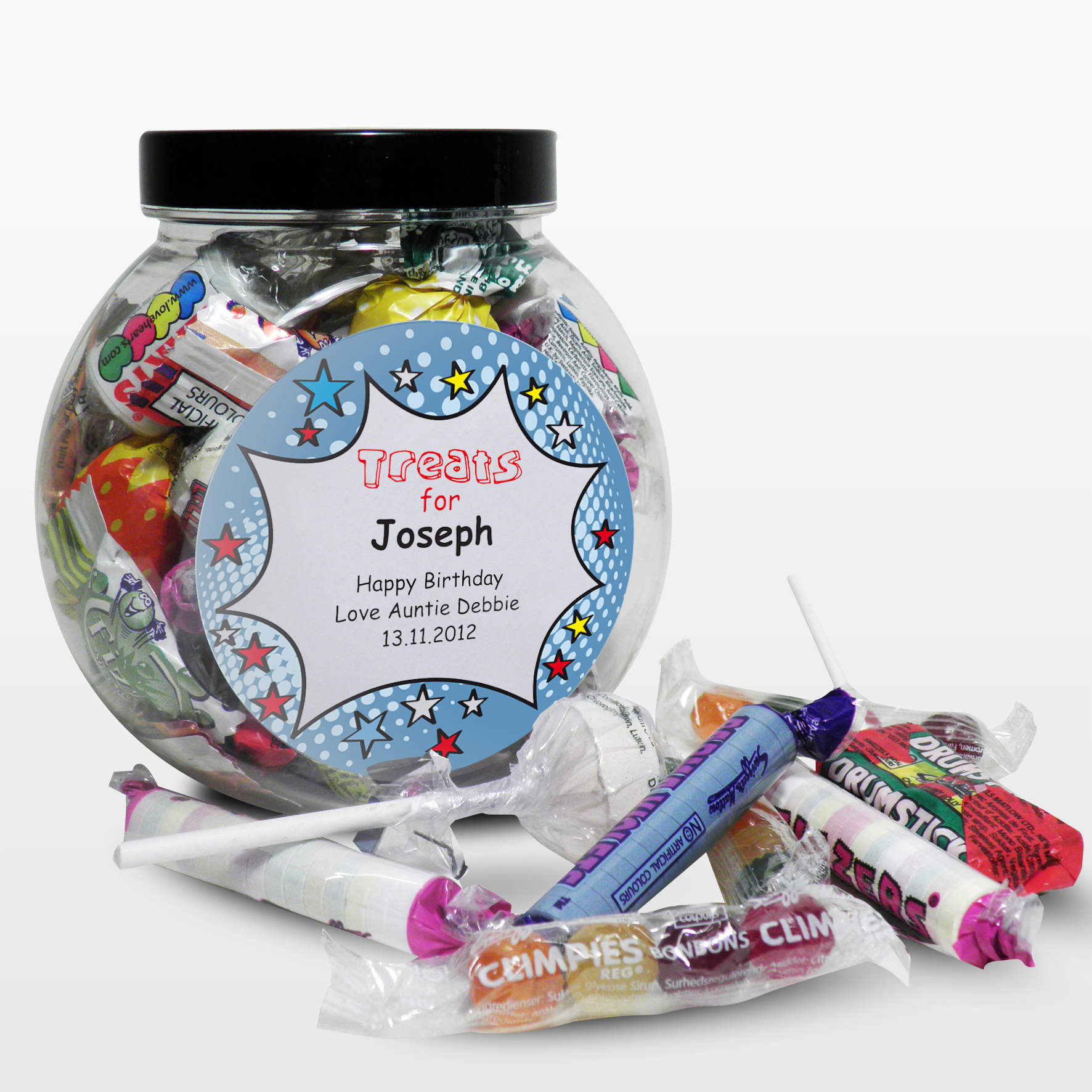 Personalised Comic Book Sweet Jar