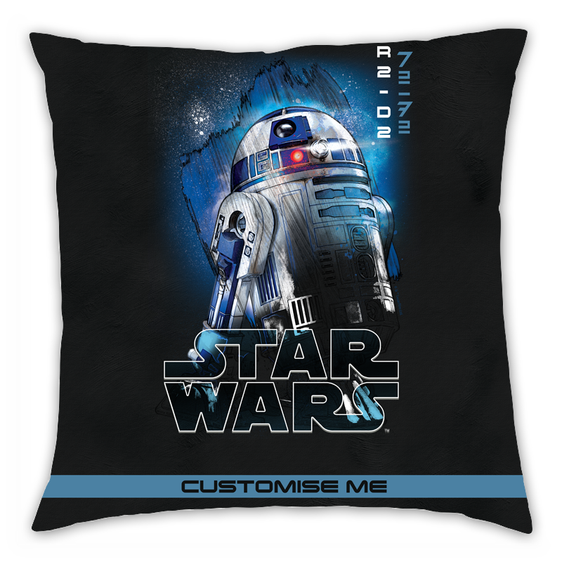 Star Wars R2-D2 Last Jedi Spray Paint Cushion