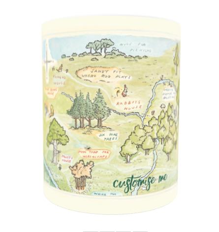 Disney Winnie The Pooh Map Mug
