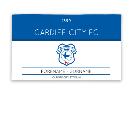Cardiff City FC Minimal Ticket 5ft x 3ft Banner