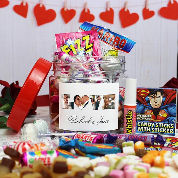LOVE' Photo Gift - Retro Sweet Taster Jar