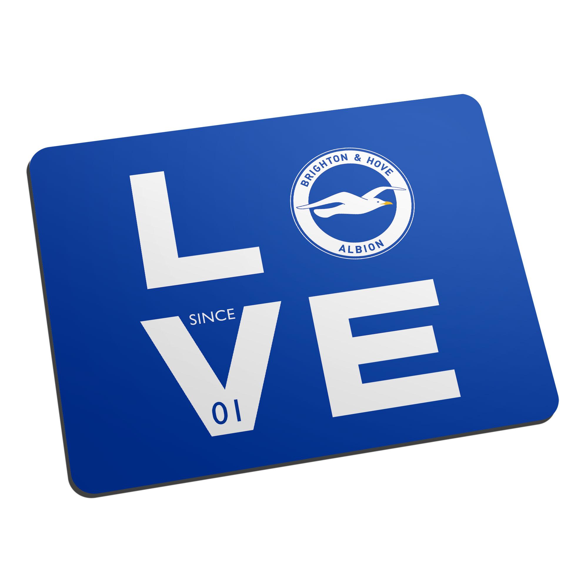 Brighton & Hove Albion FC Love Mouse Mat